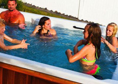 swim spa family fun
